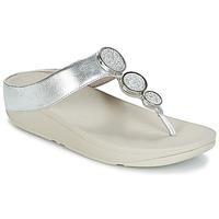Schoenen Dames Slippers FitFlop HALO TOE THONG SANDALS Zilver