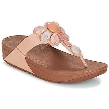 Schoenen Dames Slippers FitFlop HONEYBEE JEWELLED TOE Nude