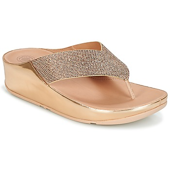 Schoenen Dames Slippers FitFlop CRYSTALL Roze / Gold