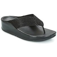 Schoenen Dames Slippers FitFlop CRYSTALL  zwart