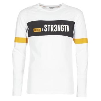 Textiel Heren T-shirts korte mouwen Jack & Jones JCOACE-TEE-LS-CREW-NECK Wit