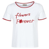 Textiel Dames T-shirts korte mouwen Betty London INNATIMBI Wit / Rood