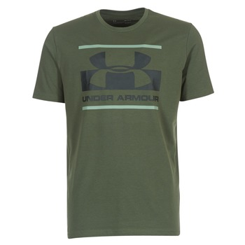 Textiel Heren T-shirts korte mouwen Under Armour BLOCKED SPORTSTYLE LOGO Kaki