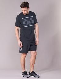 Textiel Heren Korte broeken / Bermuda's Under Armour WOVEN GRAPHIC WORDMARK SHORT Zwart
