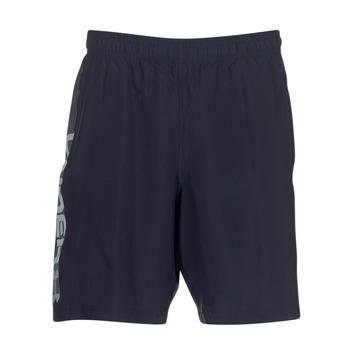 Textiel Heren Korte broeken / Bermuda's Under Armour WOVEN GRAPHIC WORDMARK SHORT Zwart