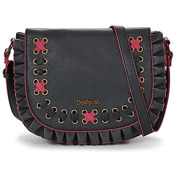 Tassen Dames Handtassen kort hengsel Desigual BOLS_VARSOVIA EYELIKE Zwart