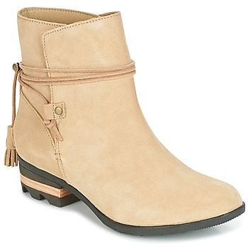 Schoenen Dames Laarzen Sorel Farah Short Beige