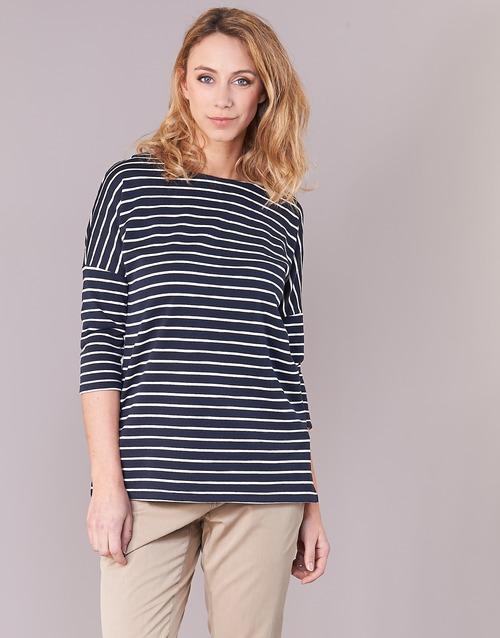 Textiel Dames Sweaters / Sweatshirts Vero Moda VMULA Marine / Wit