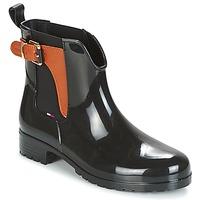 Schoenen Dames Regenlaarzen Tommy Hilfiger OXLEY Zwart