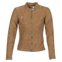Textiel Dames Leren jas / kunstleren jas Only STEADY Cognac