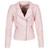 Textiel Dames Leren jas / kunstleren jas Only STEADY Roze