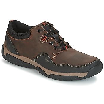 Schoenen Heren Lage sneakers Clarks WALBECK EDGE Bruin / Leather