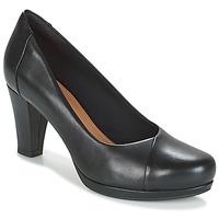 Schoenen Dames pumps Clarks CHORUS CAROL  zwart / Leather