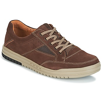 Schoenen Heren Lage sneakers Clarks UNRHOMBUS GO Dark / Bruin / Nub