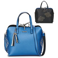 Tassen Dames Handtassen kort hengsel Desigual BOLS_HAMAR TRICOLOR Blauw / Zwart