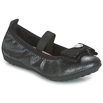 Schoenen Meisjes Ballerina's Geox J PIUMA BALLERINES Zwart