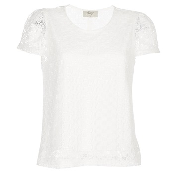 Textiel Dames Tops / Blousjes Betty London I-LOVI Wit