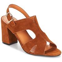 Schoenen Dames Leren slippers Bocage PAULI Brique