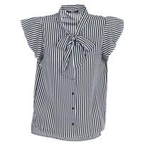 Textiel Dames Tops / Blousjes Only ELENA Zwart / Wit