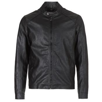 Textiel Heren Leren jas / kunstleren jas Yurban IMIMID Zwart