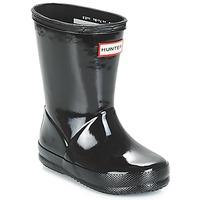 Schoenen Kinderen Regenlaarzen Hunter KIDS FIRST CLASSIC GLOSS Zwart