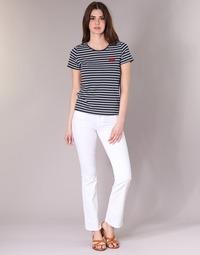Textiel Dames Bootcut jeans Yurban IALOLAO Wit