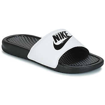 Schoenen Heren Slippers Nike BENASSI JUST DO IT Wit / Zwart