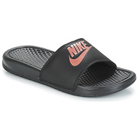 Schoenen Dames Slippers Nike BENASSI JUST DO IT W Zwart / Goud