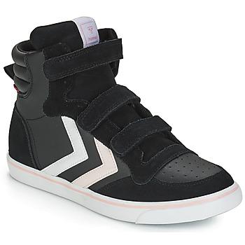 Schoenen Meisjes Hoge sneakers Hummel STADIL LEATHER JR Zwart