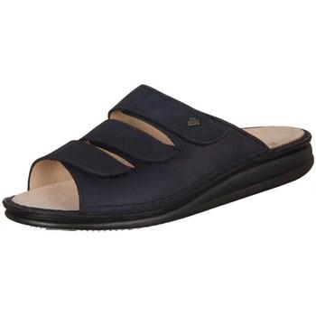 Schoenen Dames Leren slippers Finn Comfort Korfu Marine Buggy Noir