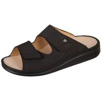 Schoenen Heren Leren slippers Finn Comfort Riad Buggy Noir