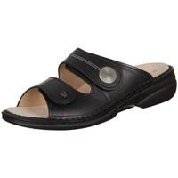 Schoenen Dames Leren slippers Finn Comfort Sansibar Noir