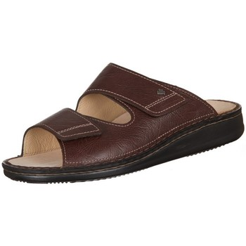 Schoenen Heren Leren slippers Finn Comfort Riad Braun Karbo Marron