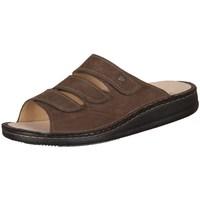 Schoenen Heren Leren slippers Finn Comfort Korfu Tabak Carat Marron