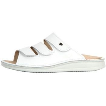 Schoenen Dames Leren slippers Finn Comfort Korfu Weiss Nappa Blanc