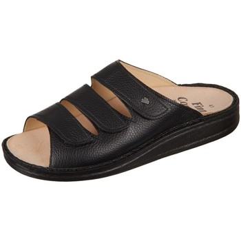 Schoenen Heren Leren slippers Finn Comfort Korfu Bison Noir