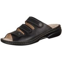 Schoenen Dames Leren slippers Finn Comfort Menorca Noir