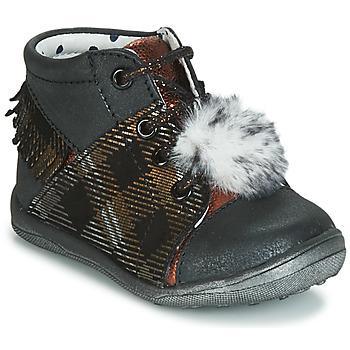 Schoenen Meisjes Hoge sneakers Catimini PEPITA Vte / Noir-cuivre / Dpf / Gluck