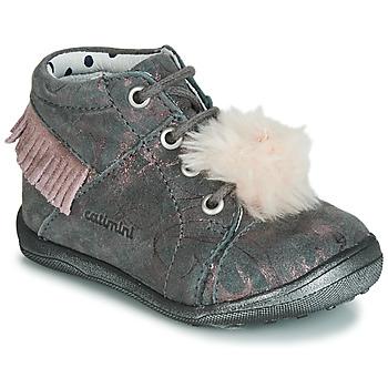 Schoenen Meisjes Hoge sneakers Catimini PEPITA Grijs / Roze