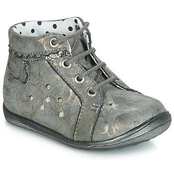 Schoenen Meisjes Hoge sneakers Catimini FANETTE Vte / Gris-marbre / Goud / Dpf / Gluck