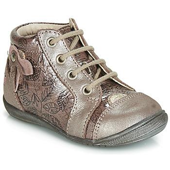 Schoenen Meisjes Hoge sneakers GBB NICOLE Vtv / Hout / De /  rose+impr / Dpf / Kezia