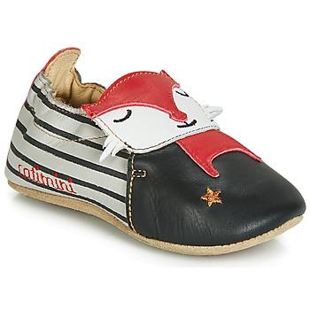 Schoenen Jongens Babyslofjes Catimini RENARDOU Vte / Zwart-grijs-rood / Dpf / Souple