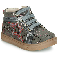 Schoenen Meisjes Hoge sneakers GBB NAVETTE Grijs / Roze