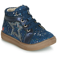 Schoenen Meisjes Hoge sneakers GBB NAVETTE Vte / Marine-pois / Dpf / Dolby
