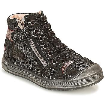 Schoenen Meisjes Hoge sneakers GBB DESTINY Zwart / Pailleté