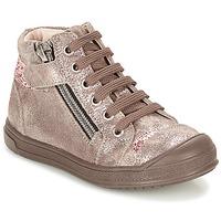Schoenen Meisjes Hoge sneakers GBB DESTINY Taupe / Brons