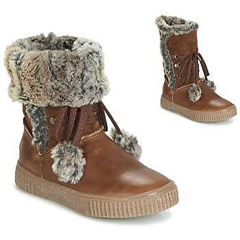 Schoenen Meisjes Hoge laarzen GBB NOUSTIK Brown