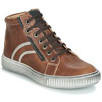 Schoenen Jongens Hoge sneakers GBB NESTOR Vte / Brown / Dpf / Letty
