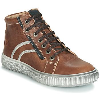 Schoenen Jongens Hoge sneakers GBB NESTOR Brown