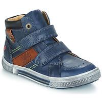 Schoenen Jongens Laarzen GBB RENDALL Blauw / Brown